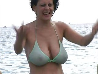 mature saggy tits with two men